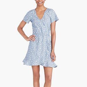 NWT J.Crew blue printed dress.